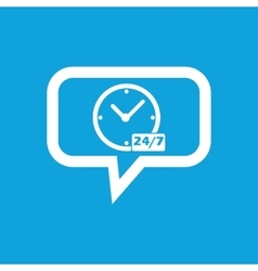 Overnight daily workhours message icon vector