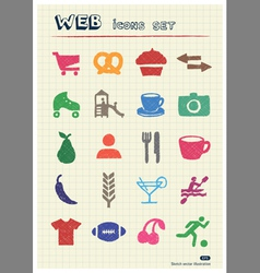 Rest food and hobby icons set vector