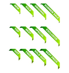 Promotional ribbons vector