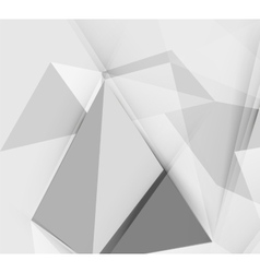 Grey triangular abstract background vector