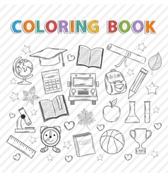Coloring bookeducation vector