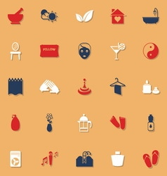 Massage classic color icons with shadow vector
