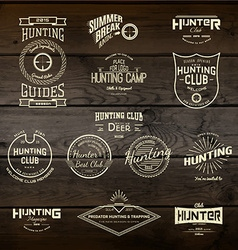 Hunting badges logos and labels for any use vector