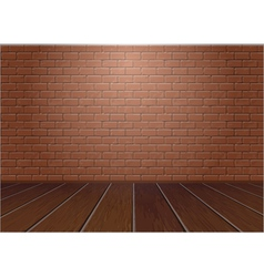Wooden floor and brick wall vector