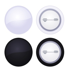Blank button badge isolated on white vector