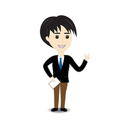 Business man on white background vector