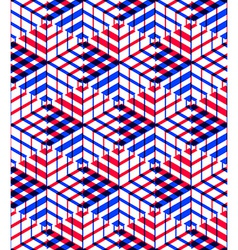 Bright symmetric seamless pattern with interweave vector
