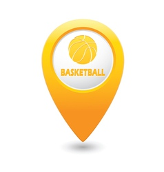 Basketball2 map pointer yellow vector