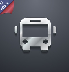 Bus icon symbol 3d style trendy modern design with vector