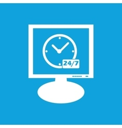 Overnight daily workhours monitor icon vector