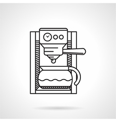 Coffeemaker black line icon vector