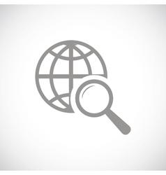 World scan black icon vector