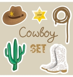 Cowboy poster wild west background for your vector
