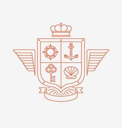 Linear heraldry symbols vector