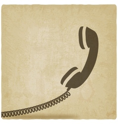 Handset symbol old background vector