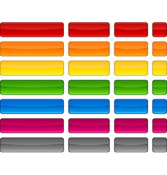 Web blank color buttons vector