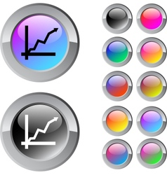 Positive trend multicolor round button vector