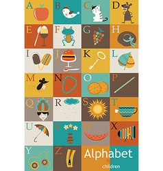 Alphabet with images vector