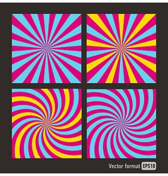 Stripes red blue square abstract vector