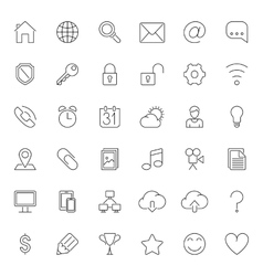 Thin line web icons vector