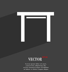 Stool seat icon symbol flat modern web design with vector