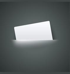 White empty label label in pocket vector