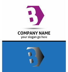 Elegant design alphabet symbol letter b vector