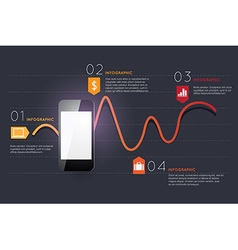 Infographic smart phone design icons text concept vector
