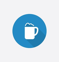 Cappuccino flat blue simple icon with long shadow vector