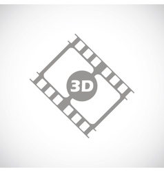3d film black icon vector