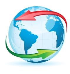World globe map vector