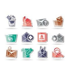 E-mail and message icons vector