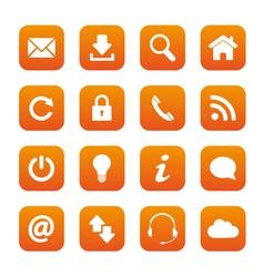 Orange web buttons vector