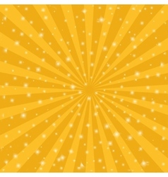 Orange sun vintage background rays star burst vector