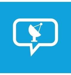Satellite dish message icon vector