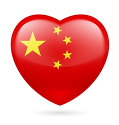 Heart icon of china vector