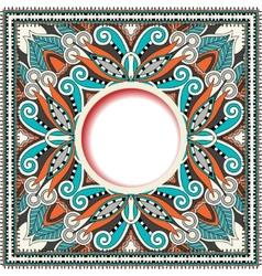 Floral round pattern in ukrainian oriental ethnic vector