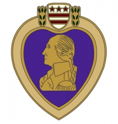 Purple heart war medal vector