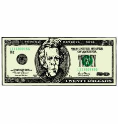Twenty dollar bill vector