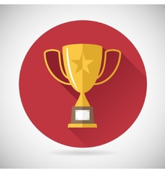 Victory prize award symbol trophy cup icon on vector