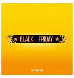 Black friday lettering on damage ribbon vector