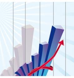 Growth chart vector
