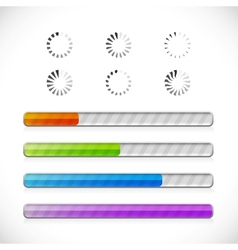Preloaders and progress bars vector