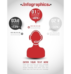 Infographic modern style web element ranking 2 vector