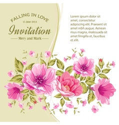 Card with flowers vector