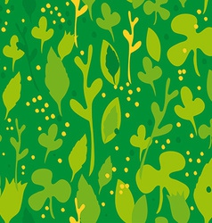 Set of funny leaves seamless pattern on a green vector