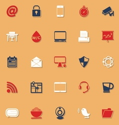 Internet cafe classic color icons with shadow vector