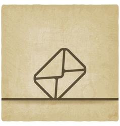 Mail envelope symbol old background vector