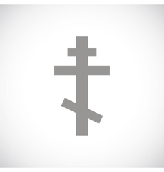 Orthodoxy black icon vector