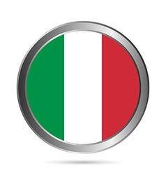 Italy flag button vector